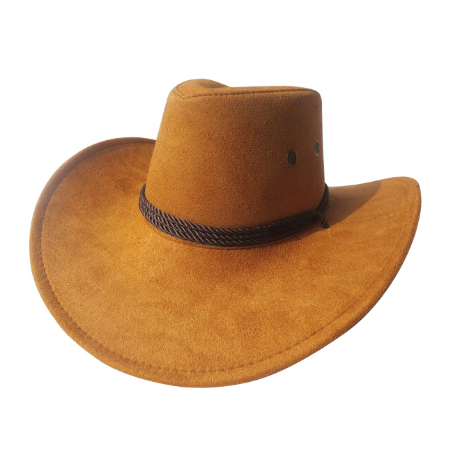 New Cowboy Cap Suede Look Wild West Fancy Cowgirl Unisex Hat Bezoar