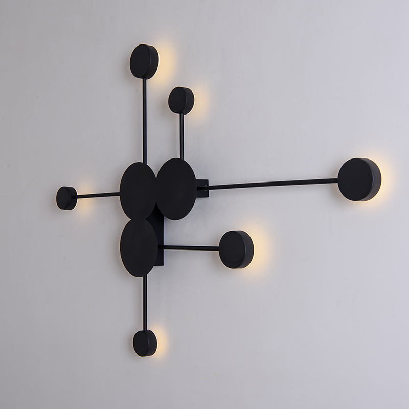 US $64.08 28% OFF|Gold/black/white rotatable modern led wall lamps wall  light bedroom light iron bedroom lamp applique murale luminaire wandlamp-in  ...