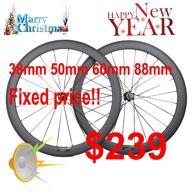 Ultra light 700C rowerów węglowe koła 24/30/35/38/45/50/55/60 /75/88mm głębokie clincher tubular węglowe koła szosowe koła