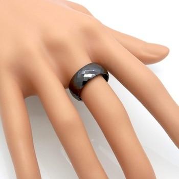 8MM Wide Rings Comfort Fit Multi Faceted Women White Black Ceramic Ring Engagement Brand Ceramic Jewelry Bague Ceramic Femme