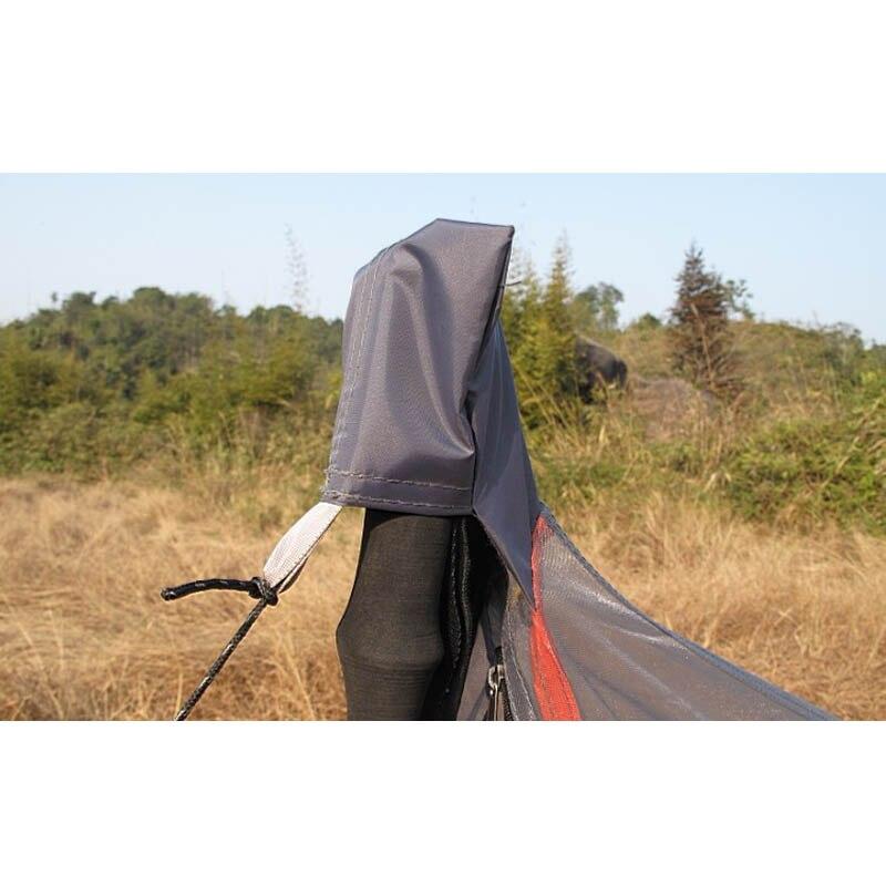 Сверхлегкий вес 592 грамма! 1-2 человек трапециевидная Одиночная сетчатая Палатка/Летняя палатка от комаров