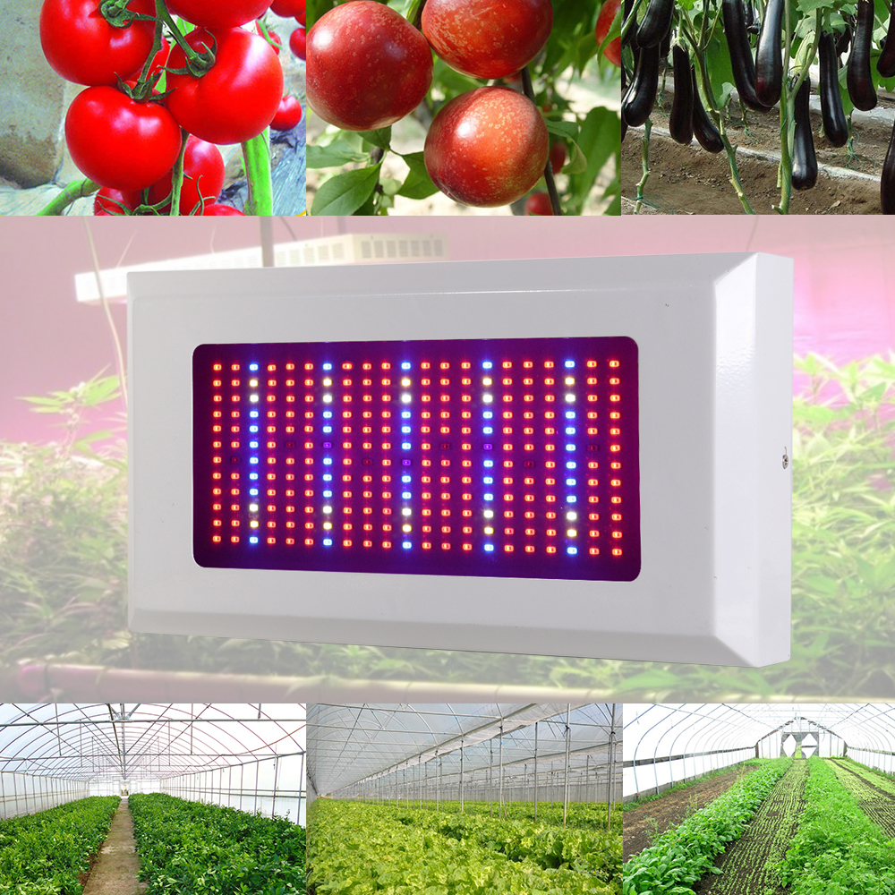 New Design 300W Full Spectrum LED Plant Grow Light Lamps Red+Blue+UV+IR AC85~265V Best For Hydroponics Veg and Flowering Plants full spectrum 600w led grow light double chips red blue white uv ir ac85 265v led plant lamps best for growing and flowering