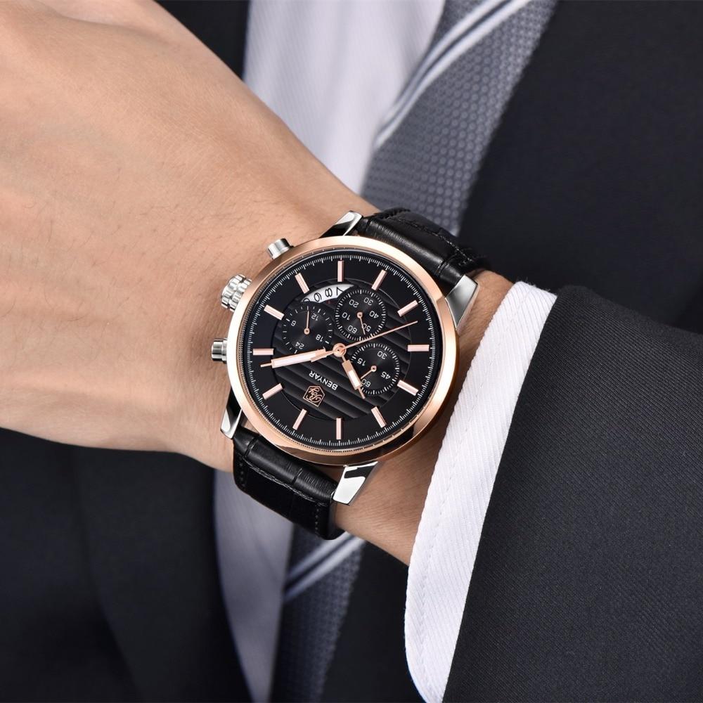 BENYAR Fashion Stainless Steel Chronograph Sports Mens Watches Top Brand Luxury Quartz Business Watch Clock Relogio Masculino Lahore