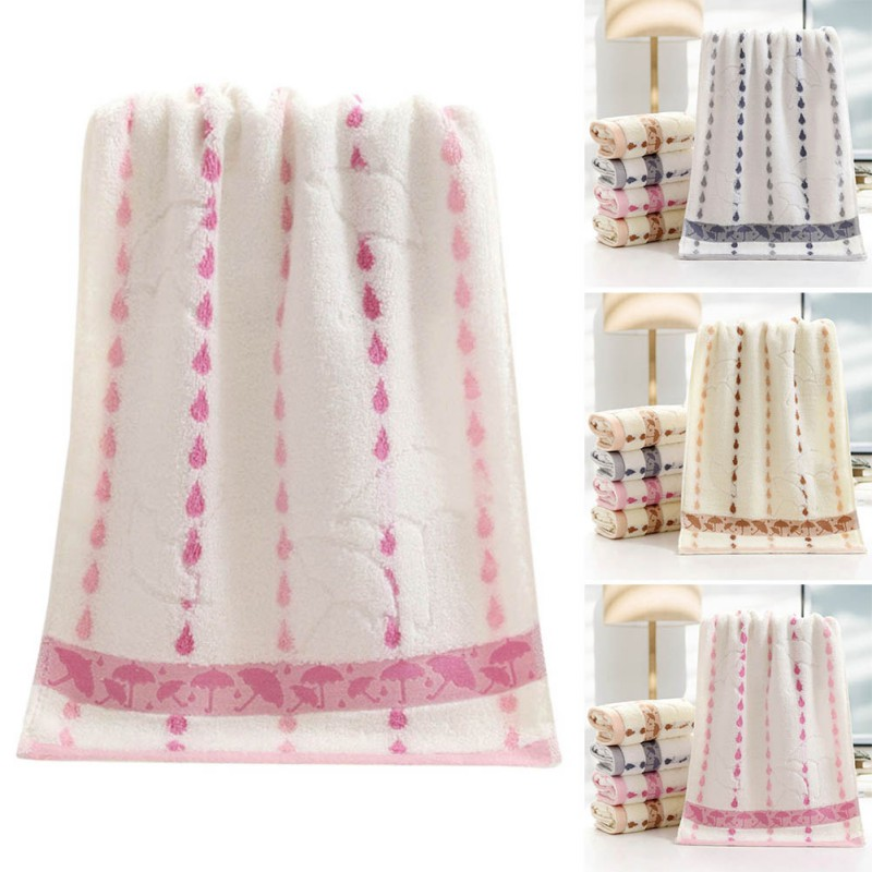 34*75cm Soft Umbrella Cotton Towel Home Cleaning Face Bathroom Hand Hair Bath Beach Towel for Kids Adult