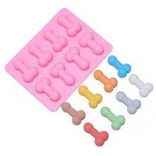 Moldes de silicona para pastel de pene, bandeja para cubitos de hielo, moldes de jabón velas herramientas de artesanía de azúcar, utensilios para hornear Chocolate