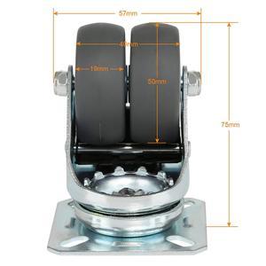 Image 5 - 4 X Heavy Dutyล้อหมุนล้อ50มม.เบรคสำหรับรถเข็นเฟอร์นิเจอร์
