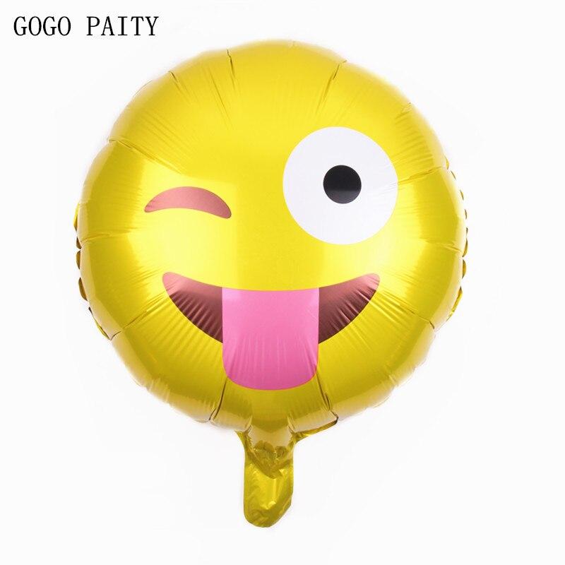 7264c343f جوجو paity شحن مجاني 1 قطع جديد لعب للأطفال وجه مبتسم بالونات حزب الديكور  عيد بالون الألومنيوم بالجملة