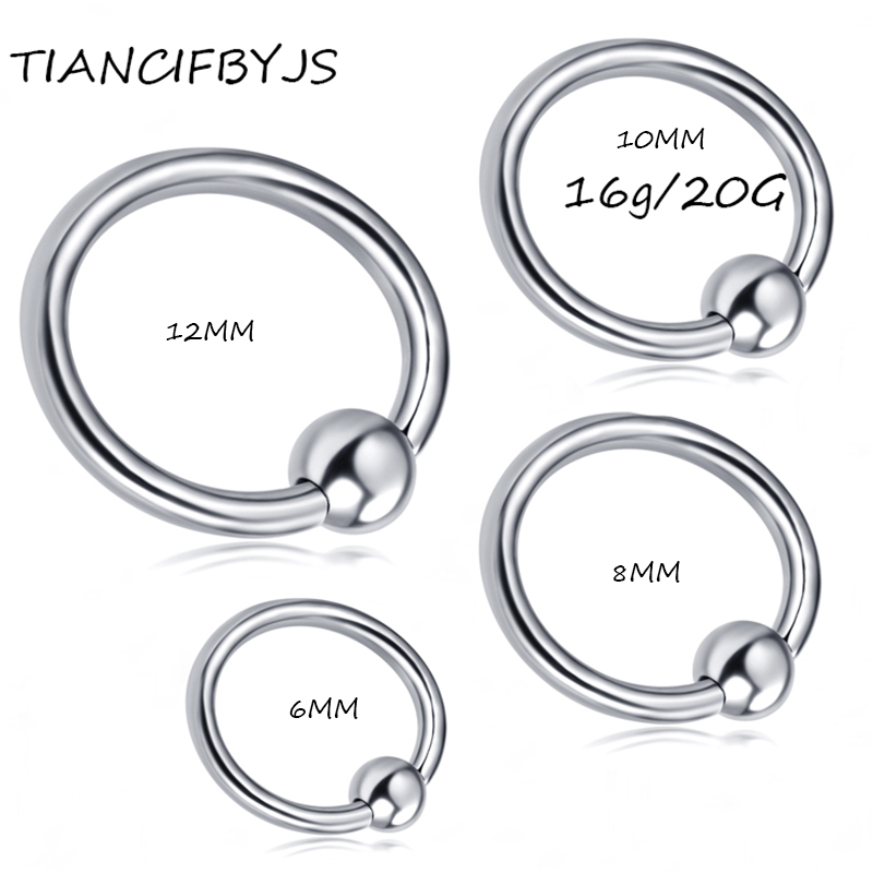 Tiancifbyjs Captive Nose Ring 100pcslot Mix 5 Size Stainless Steel