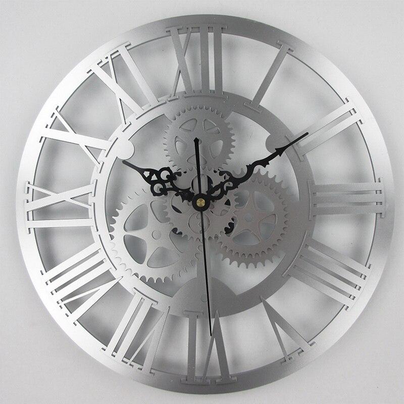 European Antique Gear Wall Clock Vintage Mechanical Gear Clock Large Gear Wall  Clock For Art Home