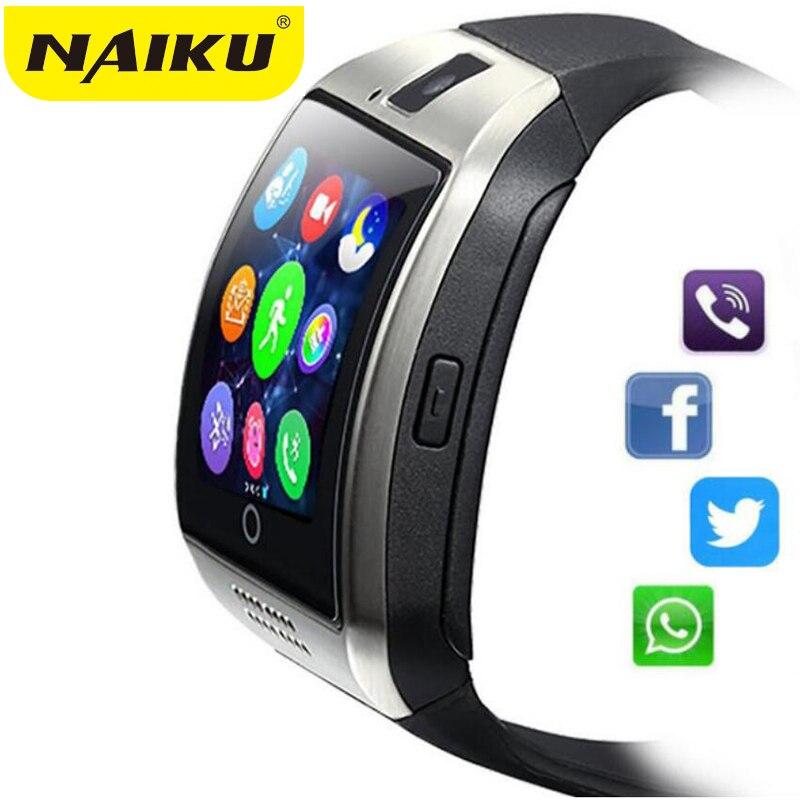 NAIKU Q18 Bluetooth montre intelligente Relogio Android Smartwatch appel téléphonique SIM TF caméra pour IOS iPhone Samsung HUAWEI VS A1 DZ09