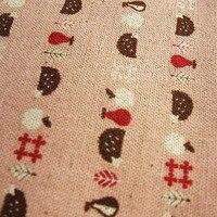 Japoński importowane KOKKA i wiatr ręcznie wykonane z bawełny i konopi ciemny róż w stylu retro spożywczy jeż tkaniny