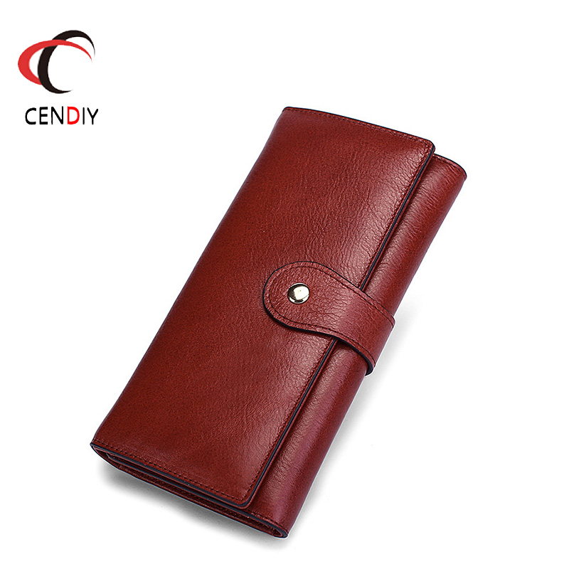 Fashion Genuine Leather Wallet Women Purse Luxury Designer Female Clutch Bag Card Holder New Coin Purse Female Original Leather