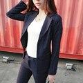 Nova Forma Magro Business Casual Desgaste Mulheres Escritório Elegante OL Conjunto Formal Blazer Jaqueta + Calça Terno Feminino Feminino