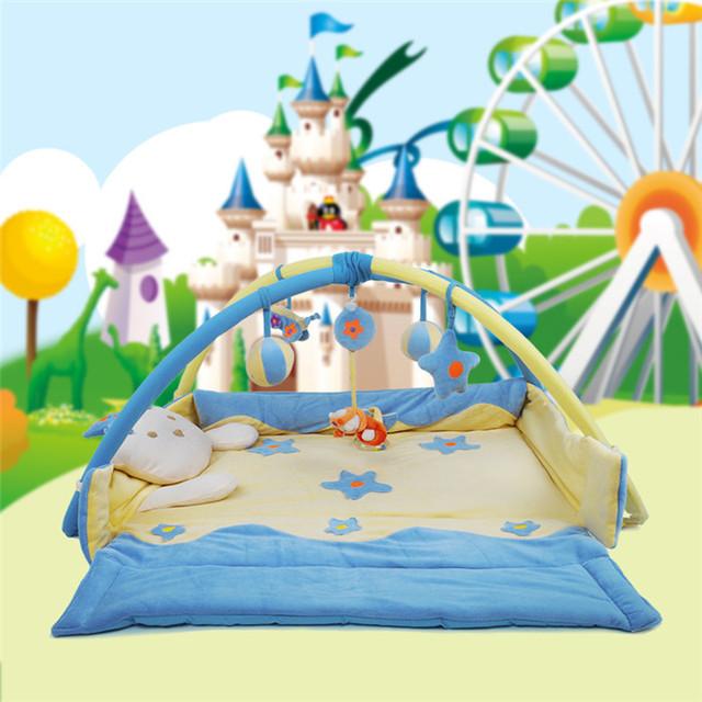 Grande príncipe! 92 cm * 110 cm! Brinquedo do bebê de e dobrar tapete Playmat Gymini atividade ginásio jogo ginásio Playmats colorido com 5 brinquedos