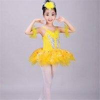 100 160cm Yellow Pink Blue White Children Costume Girls Dance Ballet Tutu Skirt Skirt Dress Skirt