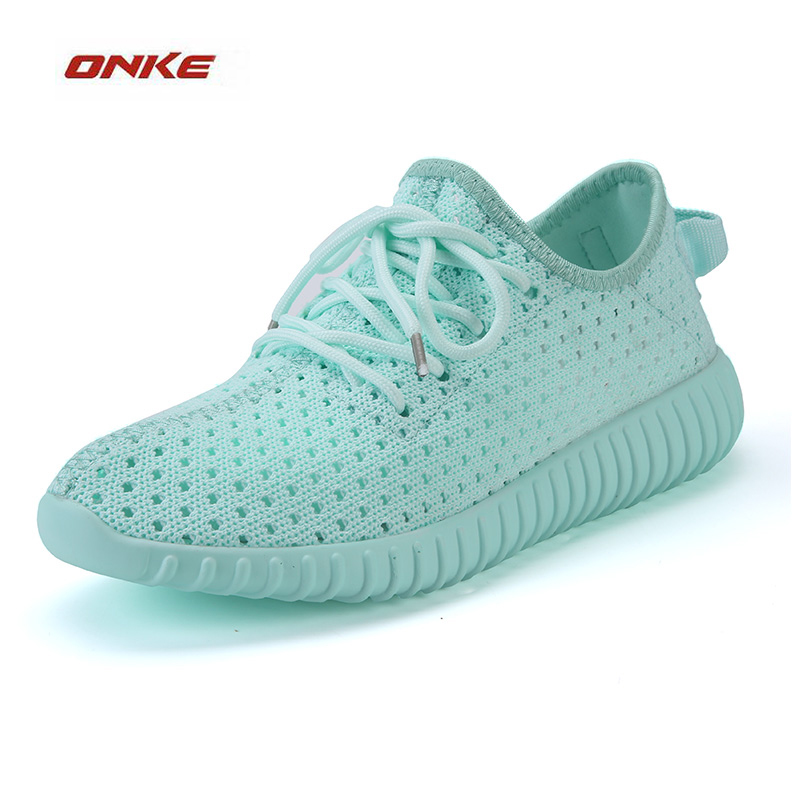 ONKE Woman Sports Running Shoes Breathbale Fabric Summer Sneaker Superstar Athletic Light Weight Sneaker Pure Color Pink Colors