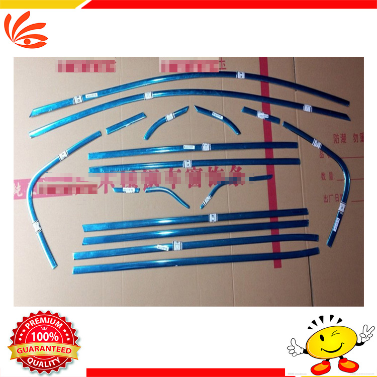 Window Trim Decoration Strips Stainless Steel Car Styling Accessories For Peugeot 2008 18PCS