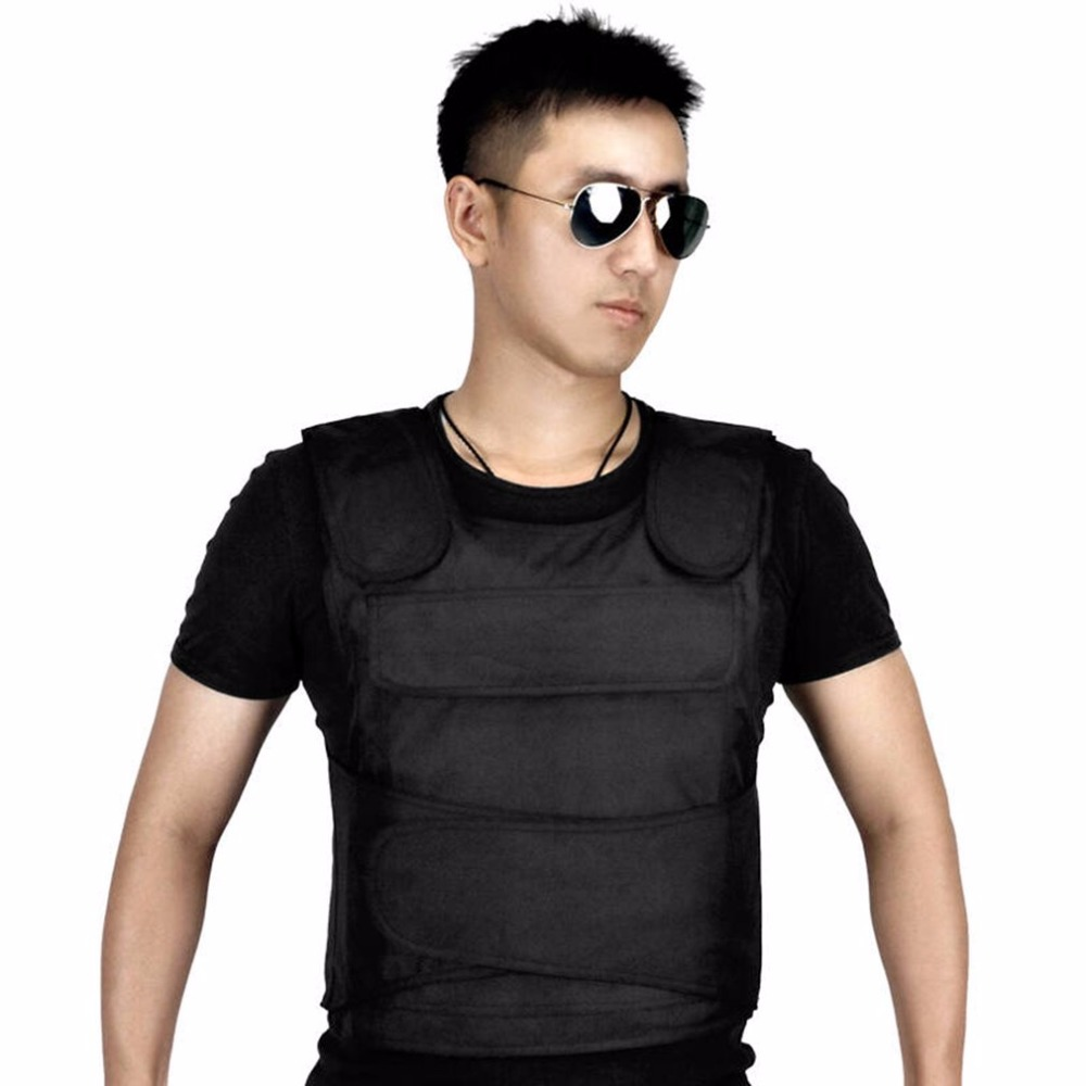 Breathable Tactical Vest Stabproof Vests Anti Tool Self-Defense Service Equipment Outdoor Self-Defense Vest Supplies Black