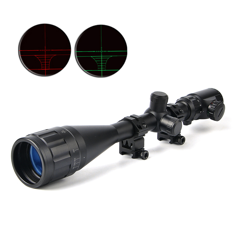 BUSHNELL 6-24X50 AOE Riflescopes Hunting Red Green illuminated Crosshair Reticle Rifle Scope Riflescope Luneta Para Rifle Caza gps навигатор bushnell backtrack d tour red