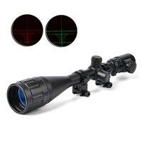 Bushnell 6 24X50 AOE Riflescopes Hunting Red Green Illuminated Crosshair Reticle Rifle Scope Riflescope Luneta Para