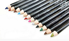 12pcs black rod Colorful Eyeliner Pencil makeup water proof Pen cosmetic maquiagem pinceis easy maquillaje tools free shipping