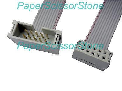 2,54 мм 10-контактный провод IDC плоский удлинитель ленты (штекер-гнездо) кабель 12 дюймов