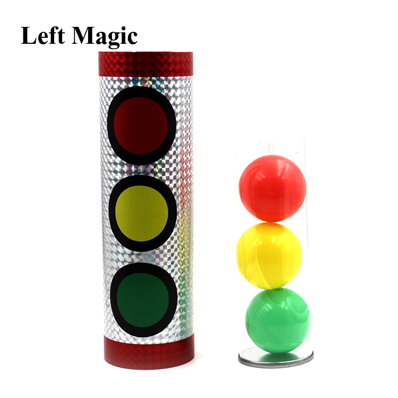 Miracle Balls Magic Tricks Traffic Lights Color Change Stage Magic Props Illusion Gimmick Mentalism Classic Toys(China)