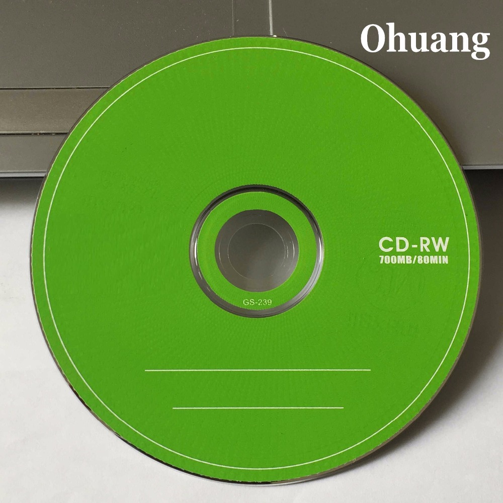 Wholesale 5 Discs Grade A+ Green Blank CD-RW Disc