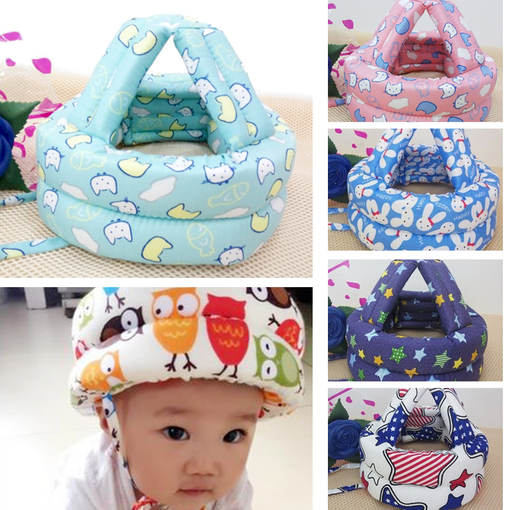 Baby Safety Learn to Walk Cap Anti-collision Protective Hat Safety Helmet Soft Comfortable Head Security&Protection Adjustable baby safety helmet toddler headguard hat protective infants soft cap adjustable for crawl walking running outdoor playing