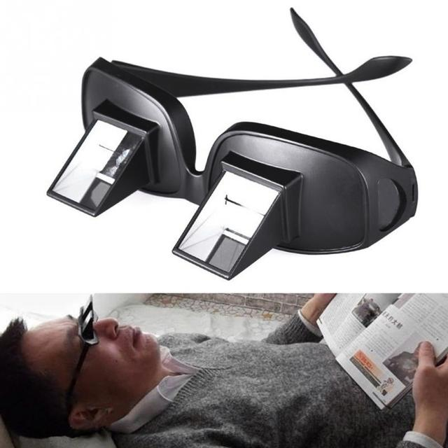 1969ece2e309 Lazy Man Glasses Horizontal Type Reflective Glasses, Lied To Watch TV  Newspaper Periscope men reading glasses