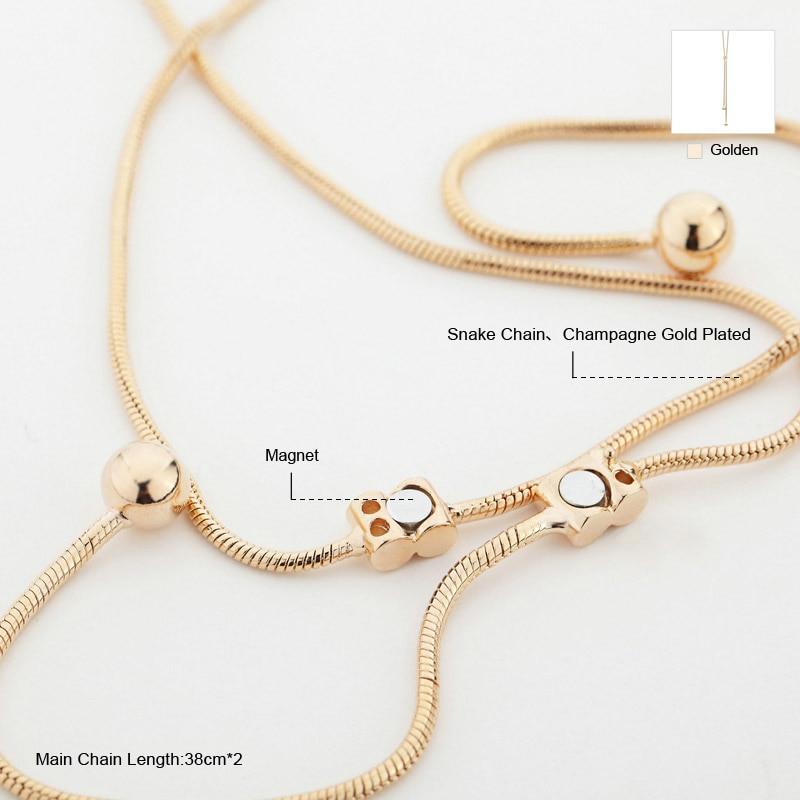 Neoglory Mode Panjang Boho Maxi Emas Kalung Liontin untuk Wanita - Perhiasan fashion - Foto 6