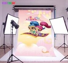 SHENGYONGBAO Art Cloth Custom  Photography Backdrops Prop Shimmer and shine Cartoon Theme Background SS-00026