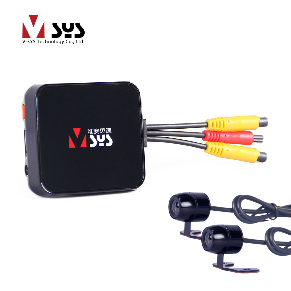 VSYS Original Factory Official C6L Dual Lens Motorcycle Camera System with Front and Rear View Motorcycle Dash Cam DVR Blackbox