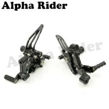 Black Motorcycle Racing CNC Adjustable Rearsets Footrest Foot Pegs Rear Sets for Ducati Panigale 1199 S/R 2012 2013 2014 Racers