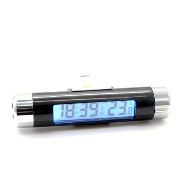 fe76eaabbb5 Carro Veículo Termômetro Time Clock Com Função Luminosa Relógio Auto  Elétrica Automotiva Anti Alta Azul Baixa