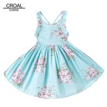 12m-12y синий красивый цветок лето рукавов Обувь для девочек Платья для женщин платье принцессы с рисунком для Костюмы для девочек для детей Костюмы