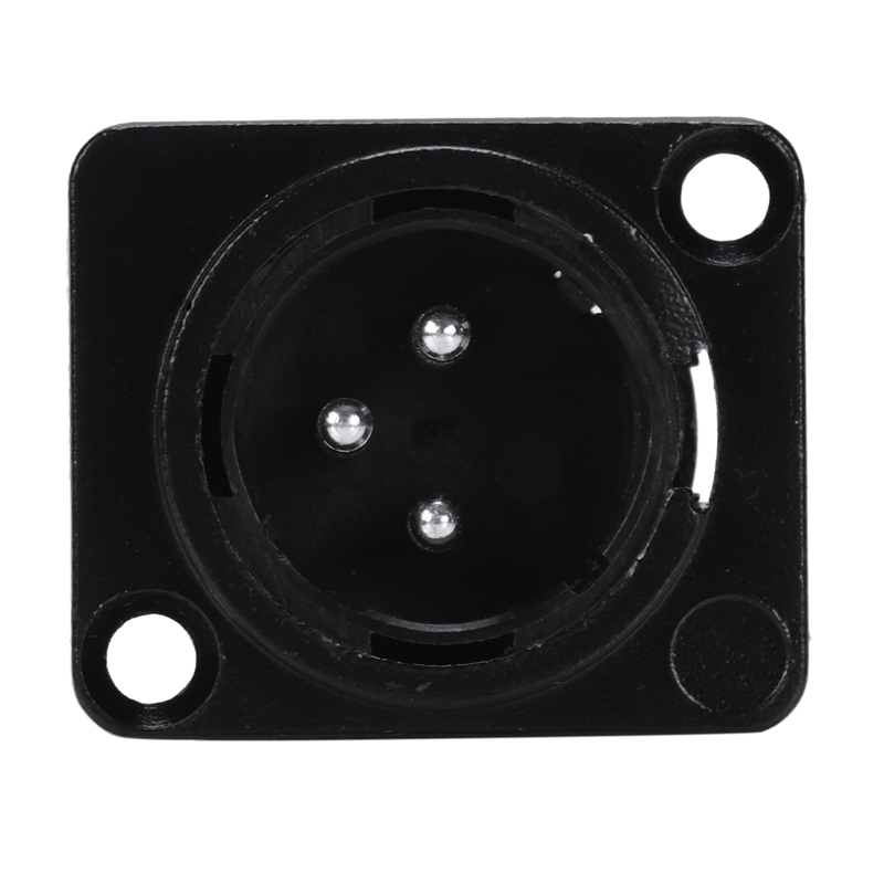 Socket panel ABS 3 Pin Male Panel Chassis Mount Socket 3P Locking Audio Mic Connector Ground Plug Module Adapter 2 8 3cm in Panel from Home Improvement