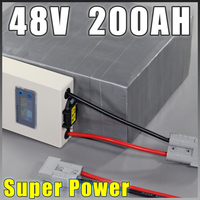 lifepo4 battery 48V 200AH Super Power EV Car Scooter E Motorcycle Battery Pack 10kw BMS