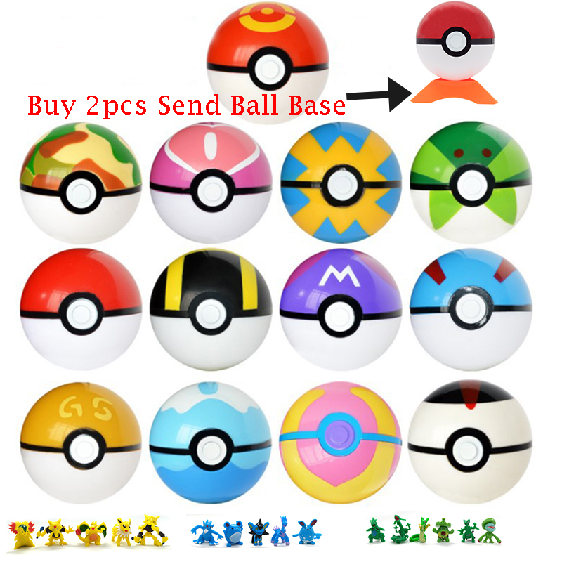 Anime Action Figure Toys Magic Pocket Ball Pokeball Model Toys For Children Collection Toys Kids Gifts Pikachu Monster Doll
