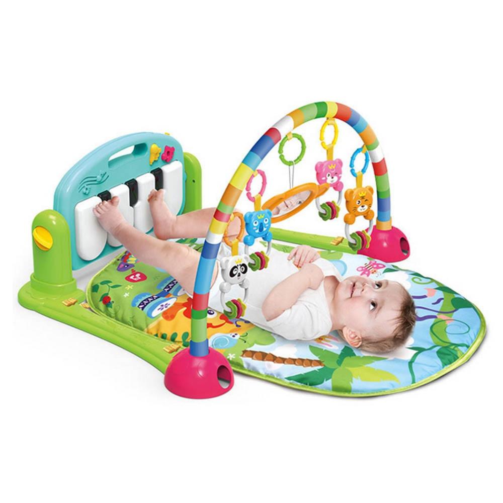 3 en 1 enfants ramper tapis Fitness Rack tapis jouets éducatifs bébé jeu couverture musique jouer tapis avec clavier de Piano