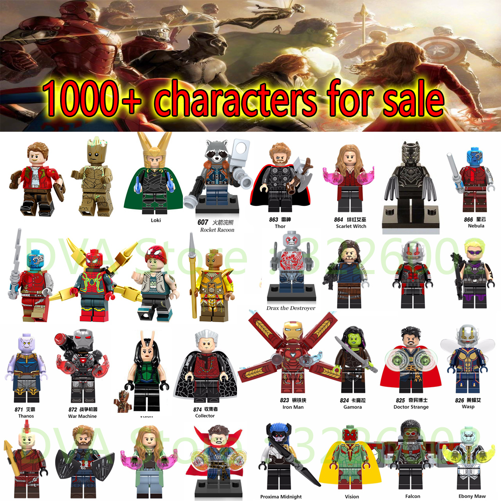 For legoing Marvel Avengers Infinity Wars Ant Iron Man spiderman Doctor Strange Loki Model Building Blocks Bricks Toys Figures