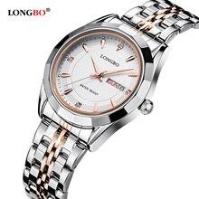 LONGBO top marque de luxe montre à quartz femmes en acier inoxydable horloge dames de la mode féminine bracelet montres robe reloj mujer 80164