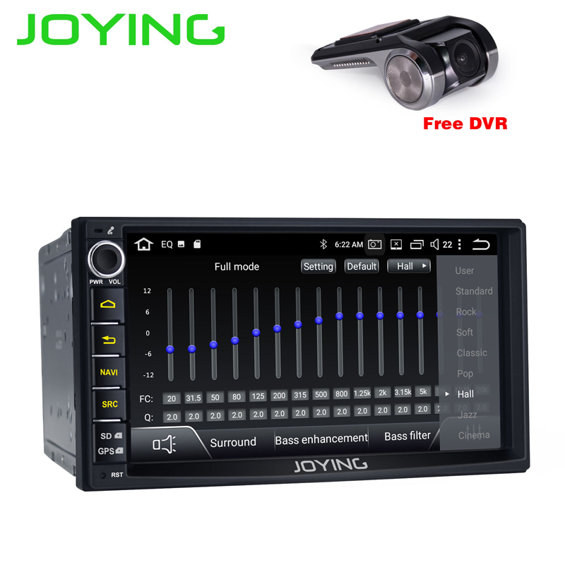 JOYING 2 DIN Android 8.1 car radio head unit stereo 7'' touch screen gps navi tape recorder with Built-in DSP Support Carplay