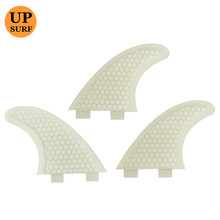 White Surfing FCS Fin G5/G3 Honeycomb Fiberglass Pure Color Tri fin set Paddling prancha quilhas de Surfboards  thruster