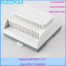 10 pcs/lot Electronic & Instrument Enclosures  plastic box electronics Din Rail industrial box 108X112X62MM