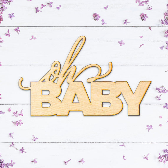 Us 1078 17 Offoh Baby Wooden Sign Wood Sign Art Laser Cut Wood Wood Decor Nursery Decor For Baby Shower Gift In Plaques Signs From Home