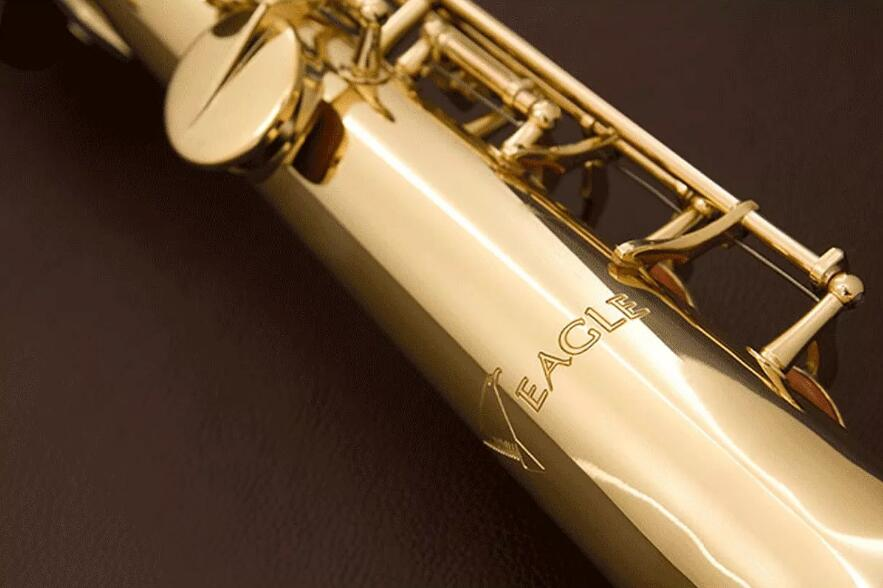 Eagle Sp502 Straight Soprano Saxophone Gold Lacquered B Tone Soprano Sax with Case Promotion