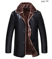 NEW 2016 Luxury Leather Jacket Winter Men S Warm Genuine Leather Fur Lining Jacket Coat Outwear