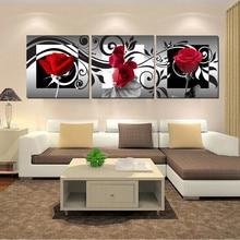 3 pcs/set,Roses Decoration art diamond painting,Cross Stitch,Diamond Embroidery Flower,Full square Mosaic Picture Z973