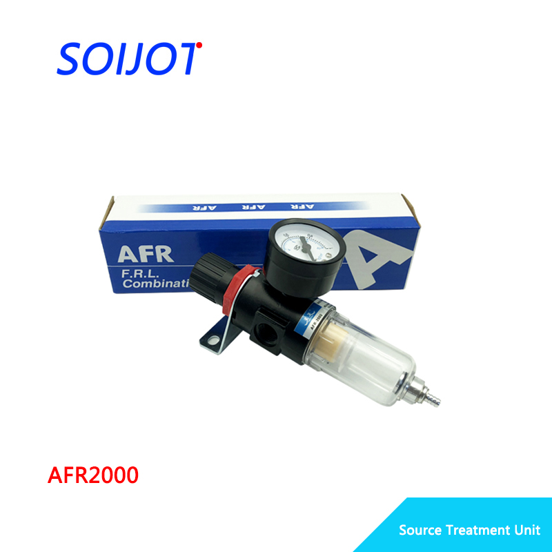 AFR-2000 Pneumatic Filter Air Treatment Unit Pressure Regulator Compressor Reducing Valve Oil Water Separation AFR2000 Gauge пневматические детали airtac 2000 pt 1 4 w afr2000 afr 2000